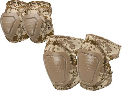 Matrix Bravo Advanced Neoprene Tactical Knee and Elbow Pad Set (Color: Digital Desert)