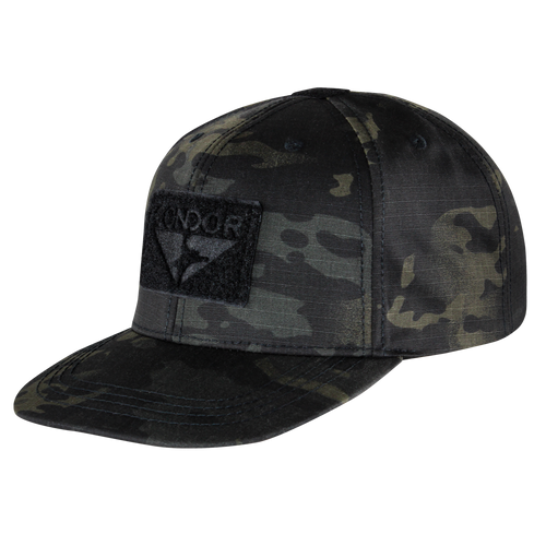 Condor Flat Bill Snapback Hat - MultiCam Black
