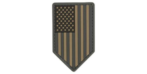 Mil-Spec Monkey PVC Vertical US Flag Patch - ACU Dark