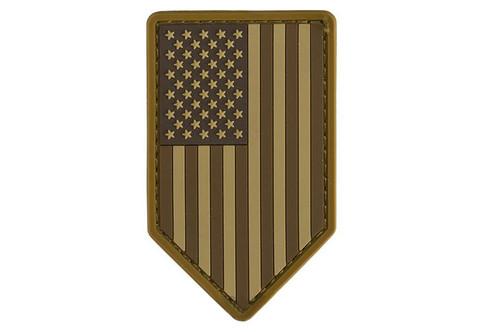 Mil-Spec Monkey PVC Vertical US Flag Patch - Desert