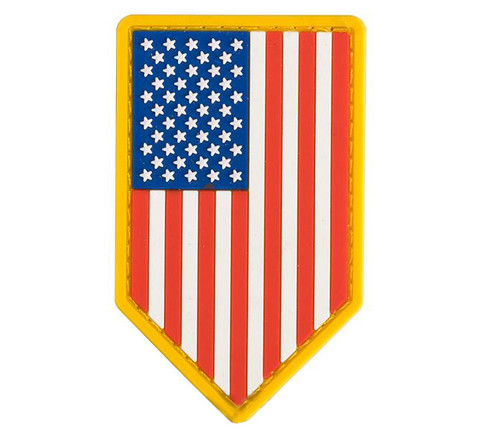 Mil-Spec Monkey PVC Vertical US Flag Patch - Full Color