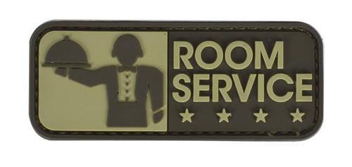 "Mil-Spec Monkey ""Room Service"" PVC Hook and Loop Patch - Desert"