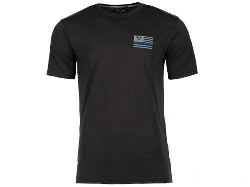 Oakley Thin Blue Line O-Hydrolix T-Shirt - Jet Black (Size: Small)