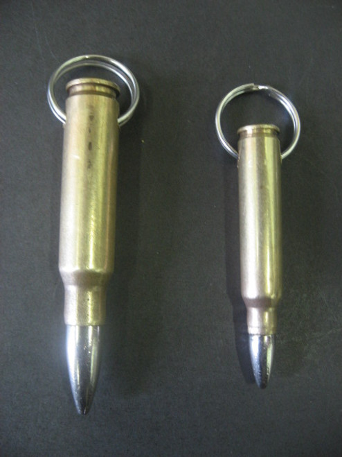 Real Bullet Necklace w/Ball Chain - Brass/Nickel Tip