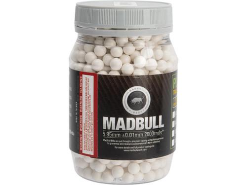 MadBull Premium Match Grade Heavy Weight 6mm Airsoft Sniper BB .36g White - 2000rd
