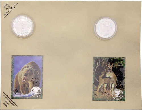 Collectible Coins Bear Deer