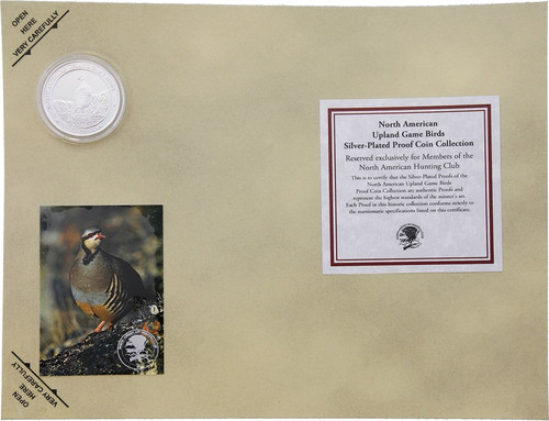 Sealed North American Upland Game Birds Ruffed Grouse Silver Plated Proof Coin
