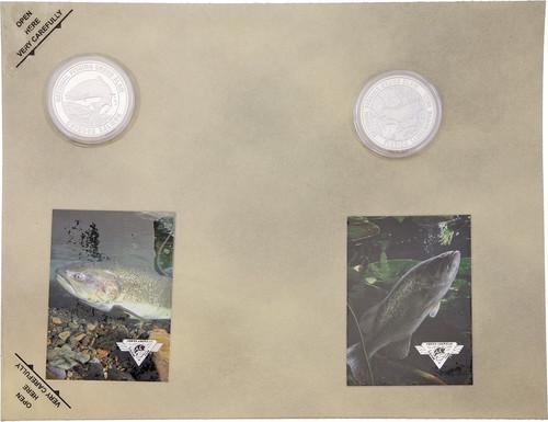 Collectible Coin Salmon Bass