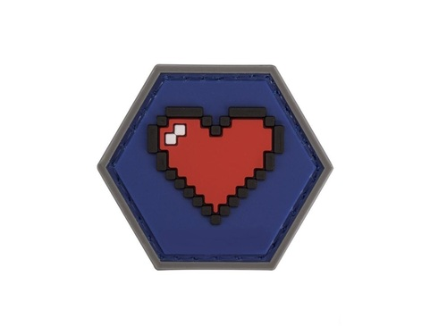 Operator Profile PVC Hex Patch Gamer Series - 8-bit Heart