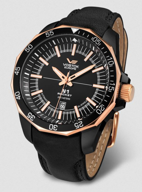 Vostok Europe N1 Rocket Automatic Leather Strap - Rose Gold