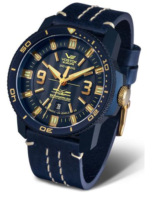 Vostok Europe Ekranoplan Sea Monster Auto Dive Watch 546D511