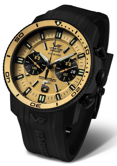 Vostok Europe Ekranoplan Sea Monster Chrono Dive Watch 546C512
