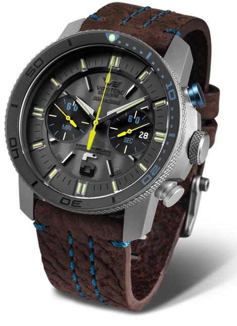 Vostok Europe Ekranoplan Titanium Chrono Dive Watch 546H514