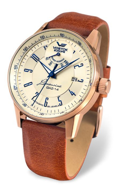 Vostok Europe Gaz Limo Automatic Power Reserve - Rose Gold