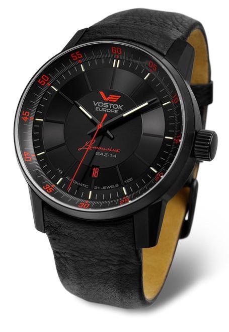Vostok Europe Gaz Limo Automatic Tritium Watch - Black PVD