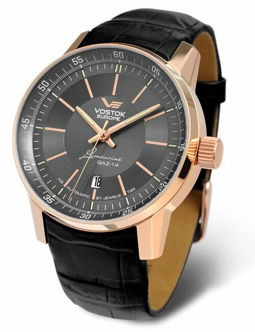 Vostok Europe Gaz Limo Automatic Tritium Watch - Grey/Gold