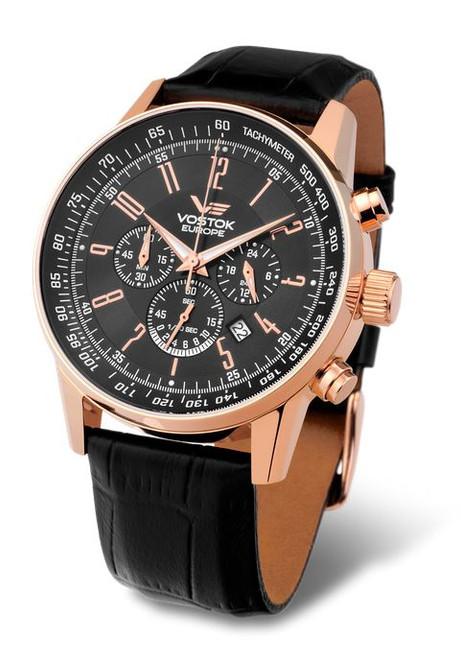 Vostok Europe Gaz Limo Chronograph Tach - Black/Gold