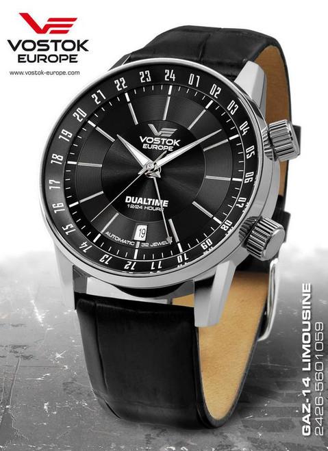 Vostok Europe Gaz Limo Dualtime Automatic Watch 5601059