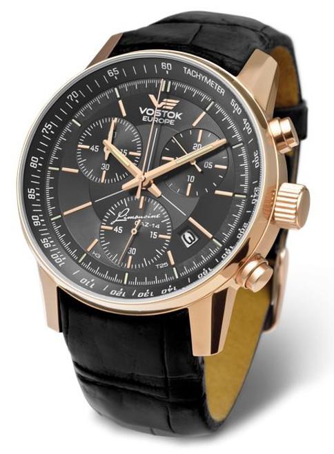 Vostok Europe Gaz Limo Tritium Chronograph - Black/Gold