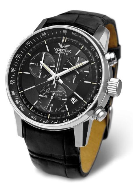 Vostok Europe Gaz Limo Tritium Chronograph Tach - Black