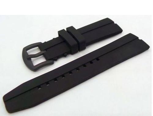 Vostok Europe Silicone Strap Black/Black Buckle 24mm