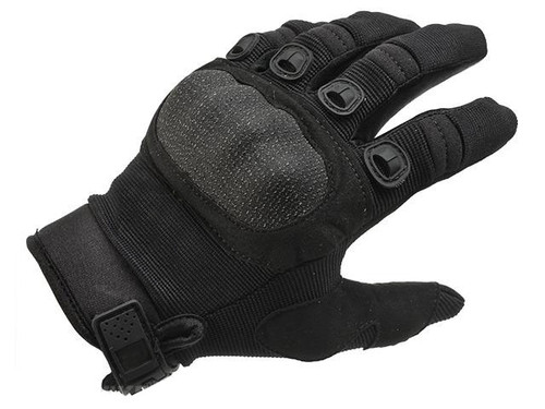 Field Operator Full Finger Tactical Shooting Gloves (Color: Black / Medium)