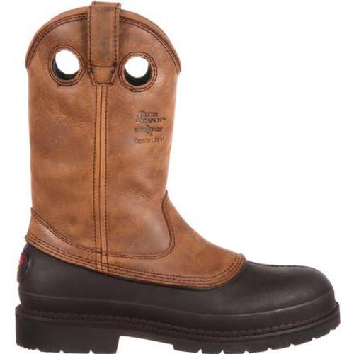 Georgia Boot Muddog Wellington Work Boot - Mississippi Brown