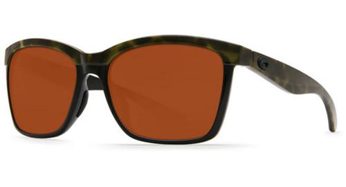 Costa Del Mar - ANAA Polarized Sunglasses - Shiny Olive Tort / 580g Black Copper