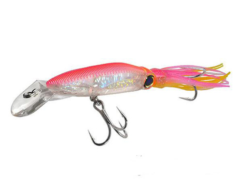 "Yo-Zuri 3D Squirt Hardbait Floating Squid (Color: Hot Pink / Size: 7 1/2"" 1 1/2 oz)"