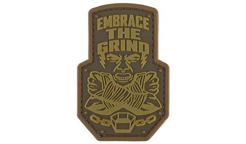 """Mil-Spec Monkey """"Embrace the Grind"""" PVC Morale Patch (Color: Bronze)"""