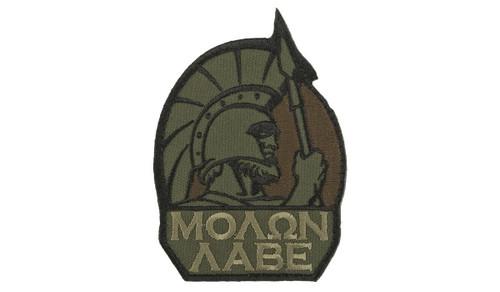 """Mil-Spec Monkey """"Molon Labe"""" Morale Patch (Color: Forest)"""