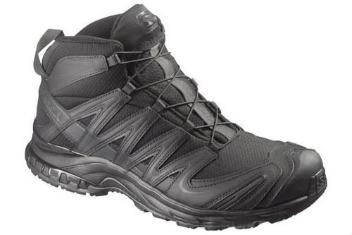 Salomon XA Pro 3D MID Forces Tactical Boots - Black / Black / Asphalt (Size: 7)