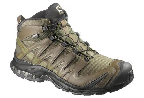 Salomon XA Pro 3D MID GTX Forces 2 Tactical Boots - Iguana Green / Dark Khaki / Iguana Green (Size: 9)