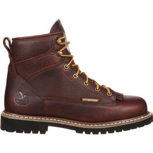 Georgia Boot Waterproof Lace-To-Toe Work Boot