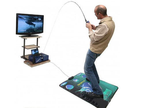 """Scatri """"SimFish"""" Fishing Simulation System (Package: With All Fish and Mat)"""