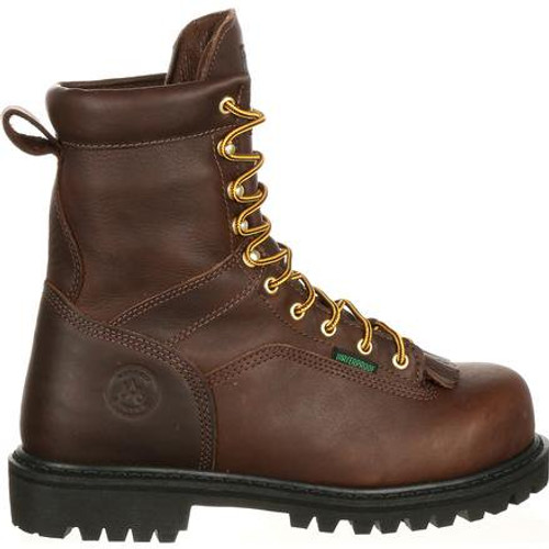 Georgia Lace-To-Toe Steel Toe Waterproof Work Boot - Chocolate