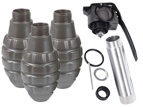 Thunder B Airsoft Co2 Simulation Grenade (Package: 3 Shell Set / Pineapple)