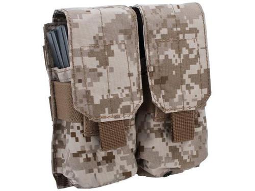 Black Owl Gear / Phantom Modular MOLLE Ready Tactical Double M4 M16 Magazine Pouch - (Color: Digital Desert)