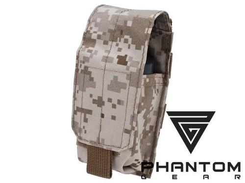Black Owl Gear / Phantom MOLLE Ready Flashbang / Grenade Pouch - Digital Desert