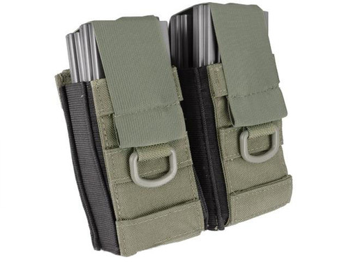 Black Owl Gear / Phantom Aggressor MOLLE Ready M4 AK MP5 Magazine Pouch (Color: Double / Ranger Green)