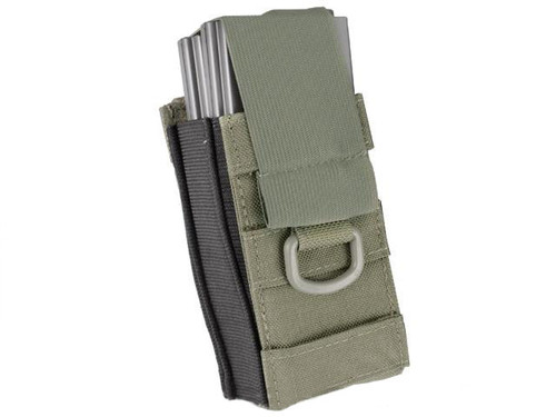 Black Owl Gear / Phantom Aggressor MOLLE Ready M4 AK MP5 Magazine Pouch - Single (Color: Ranger Green)