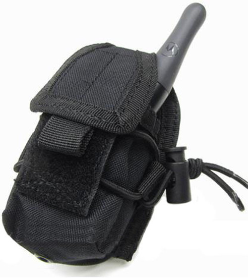 MOLLE Multi-Purpose Handheld FRS Radio MOLLE Pouch (Color: Black)