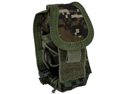 MOLLE Multi-Purpose Handheld FRS Radio MOLLE Pouch (Color: Digital Woodland)