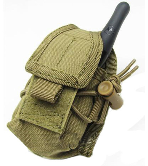 MOLLE Multi-Purpose Handheld FRS Radio MOLLE Pouch (Color: Tan)