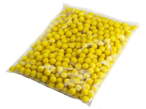 Valken Infinity Paintballs .68 Caliber Case of 2000 Rounds - Yellow / Yellow Fill