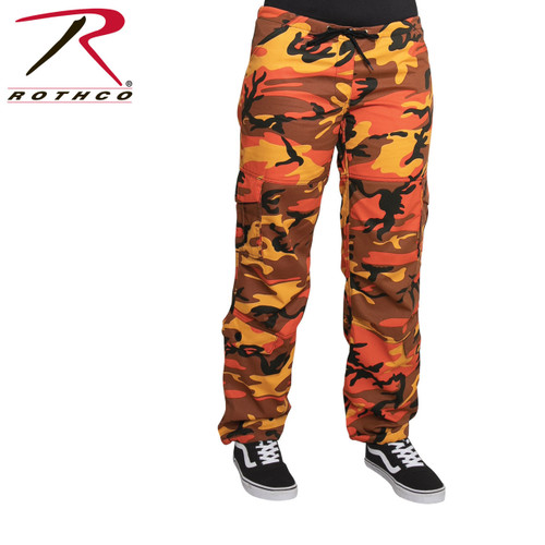 Rothco Women's Paratrooper Camo Fatigues - Savage Orange