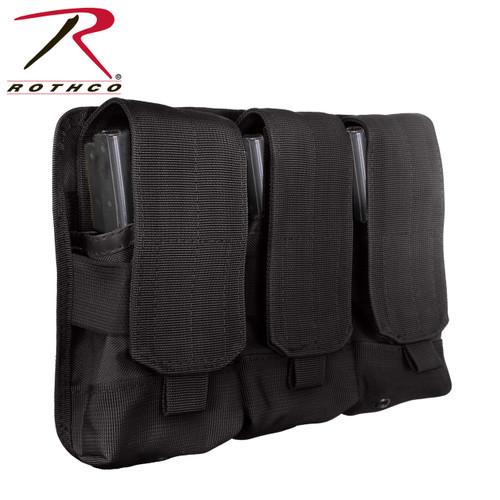 Rothco Universal Triple Mag Rifle Pouch - Black