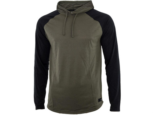 "Oakley ""Lakeside LS"" Knit Hoodie (Size: Dark Brush - Medium)"