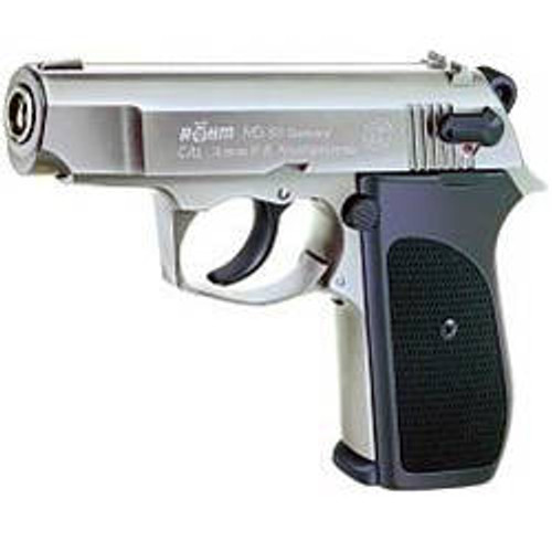 Rohm RG-88 9mm P A K  Blank Pistol -Chrome