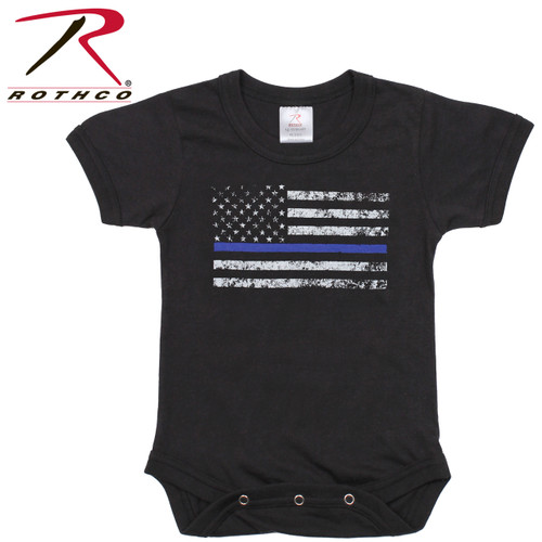 Rothco Infant Thin Blue Line One-Piece Bodysuit